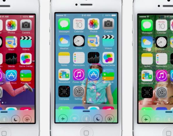 iOS 7 Home screen