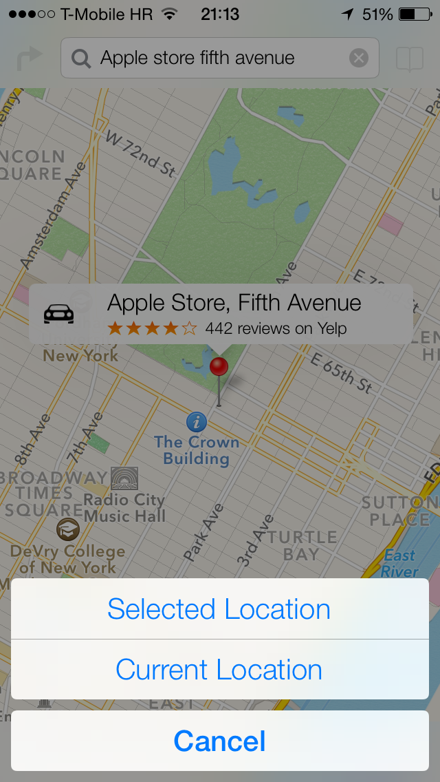 iOS 7 (Maps, Share to Twitter 001)