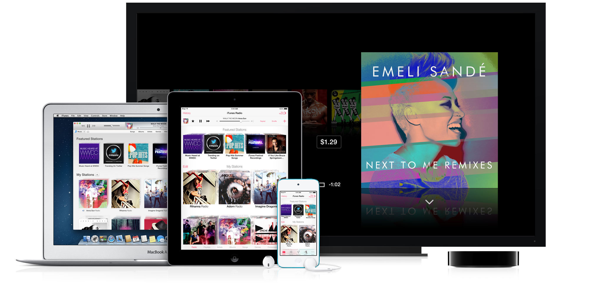 iOS 7 Music app on iPad (Apple web site teaser 001)