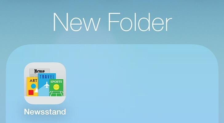 iOS 7 (Newsstand icon)