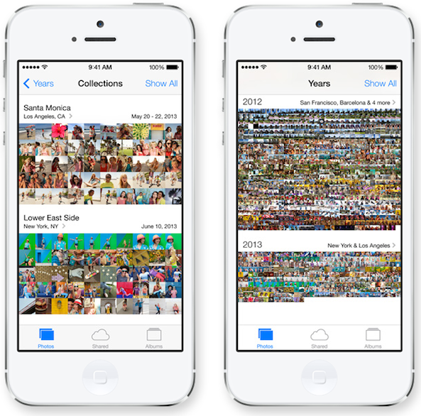 iOS 7 Photos Moments