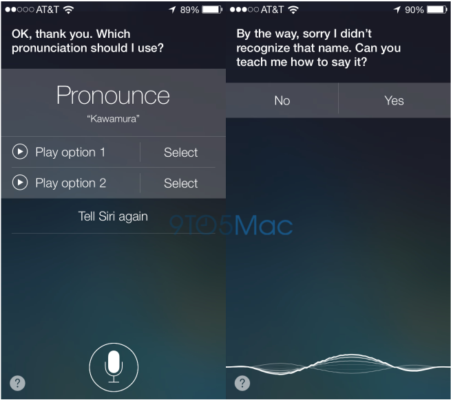 iOS 7 (Siri, pronunciation of names, 9to5Mac 001)