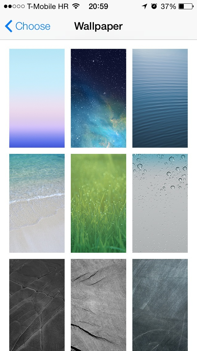 iOS 7 Wallpapers (Stills 001)