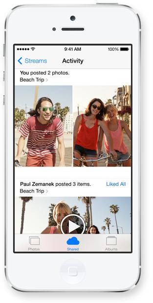 iOS 7 iCloud Photo Sharing