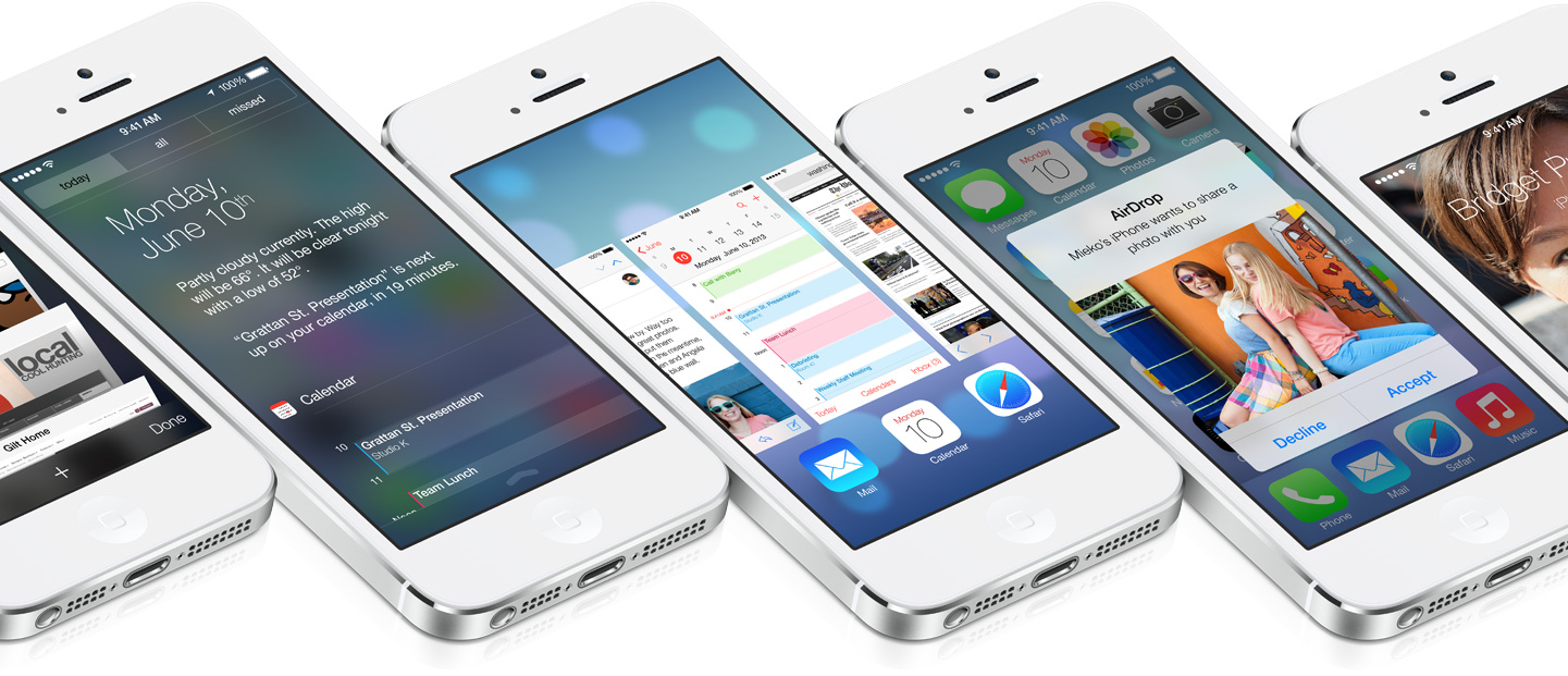 iOS 7 (multiple iPhones, flat)