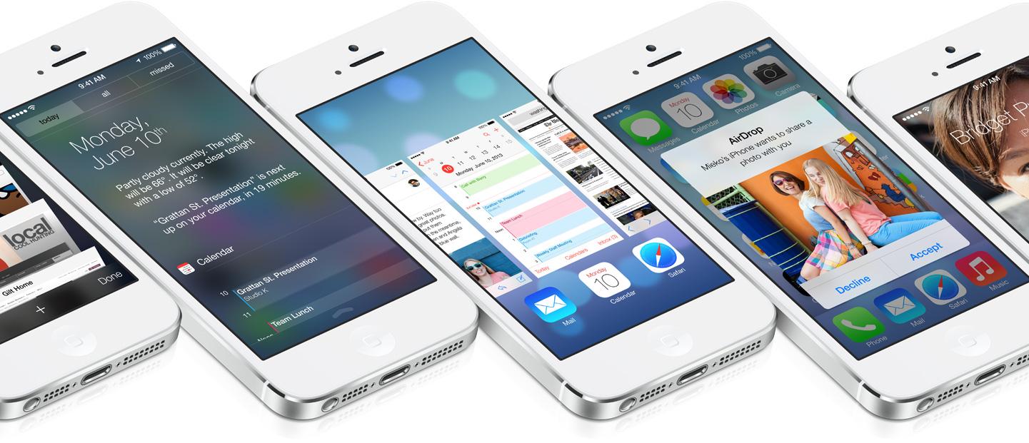 iOS 7 (multiple iPhones, flat)