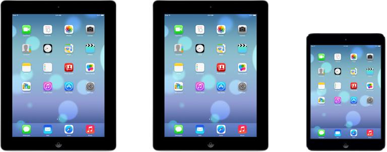 iOS 7 running on iPads (Apple web site teaser 001)