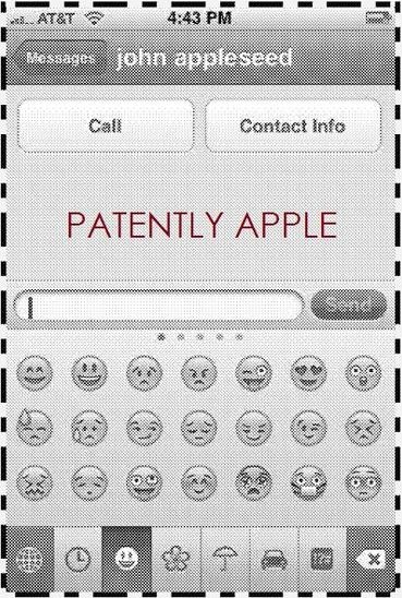 iOS Messages emoticons patent