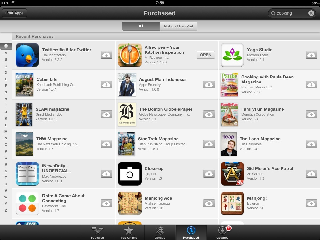 iPad App Store (search 001)