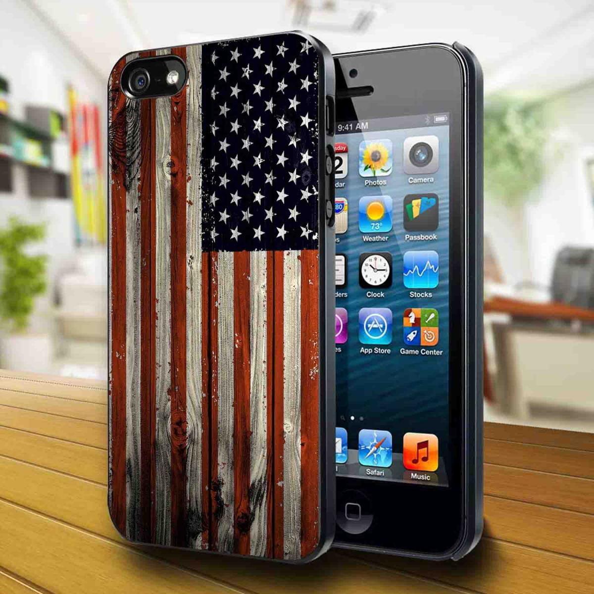 iPhone and American flag