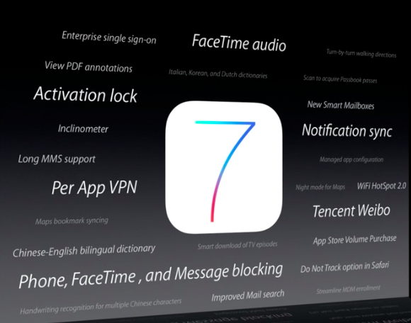 new iOS 7 features