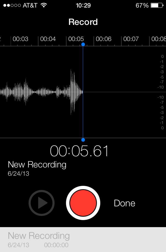 stock voice memos app
