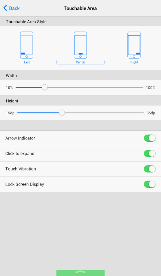 Android Control Center port (screenshot 001)