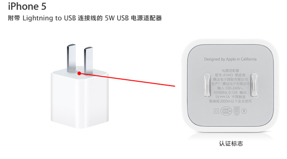 Apple China (Power adapter webpage, iPhone 5)