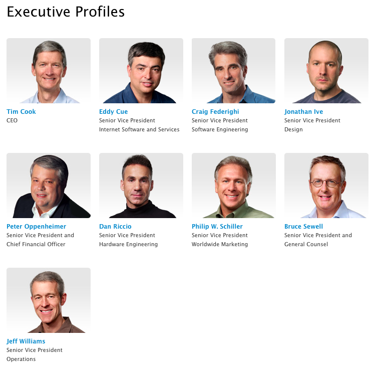 Apple Leadership (20130729)