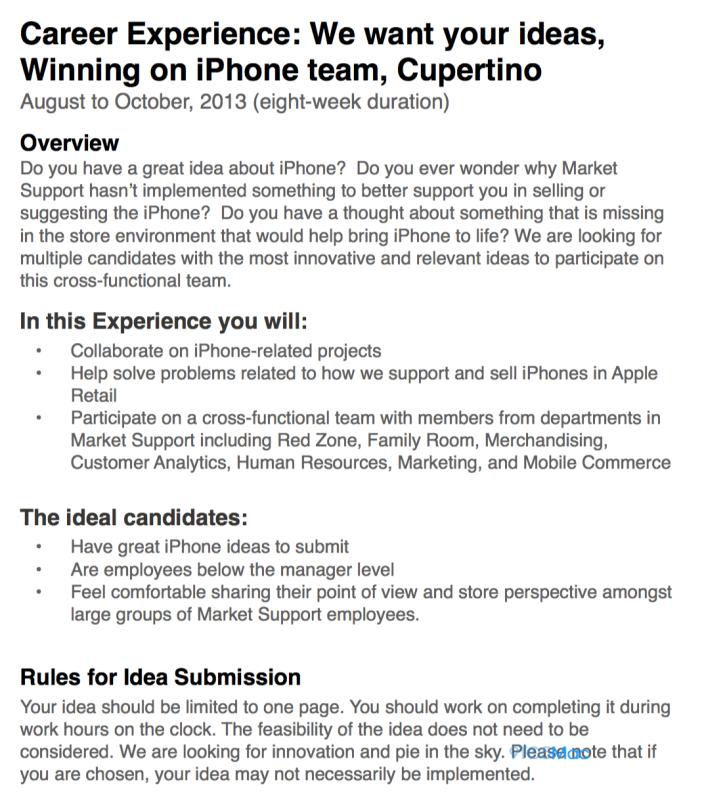 Apple (iPhone sales contest memo)