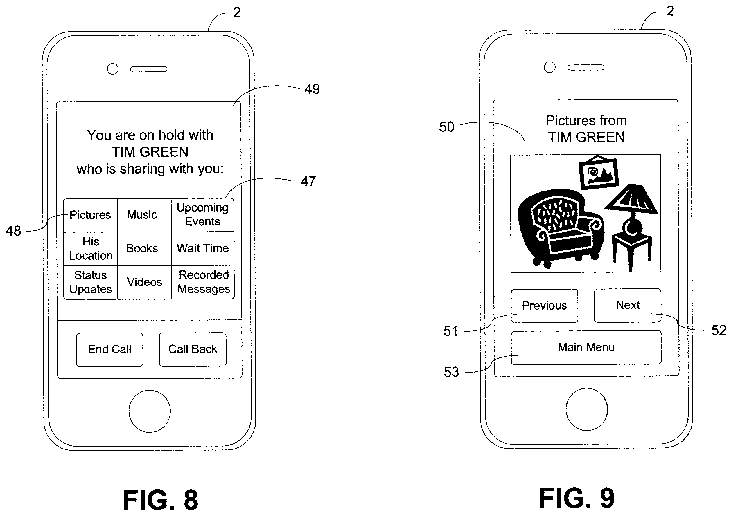 Apple patent (on-hold media sharing, drawing 001)