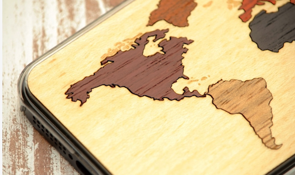 Carved World Map Inlay