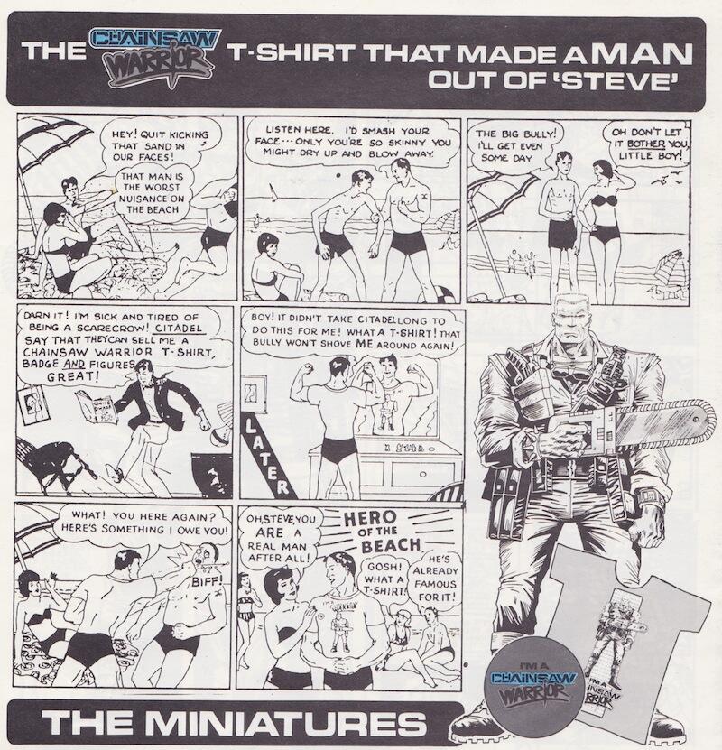Chainsaw Warrior (original spoof ad)