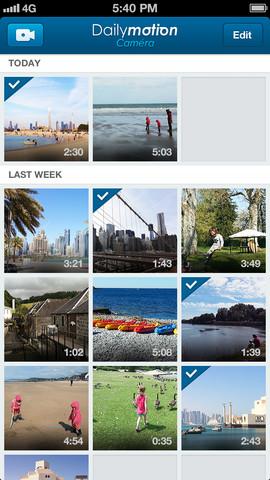Dailymotion Camera 1.0 for iOS (iPhone screenshot 002)