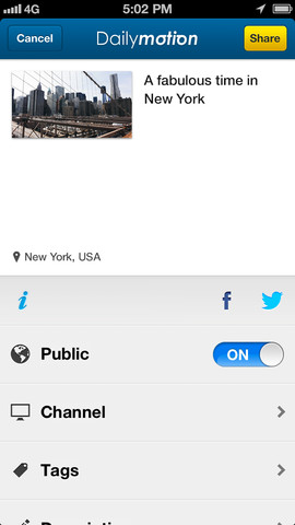 Dailymotion Camera 1.0 for iOS (iPhone screenshot 005)