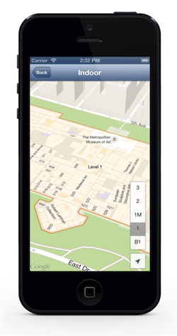 Google Maps SDK 1.4 for iOS (iPhone screenshot 001)