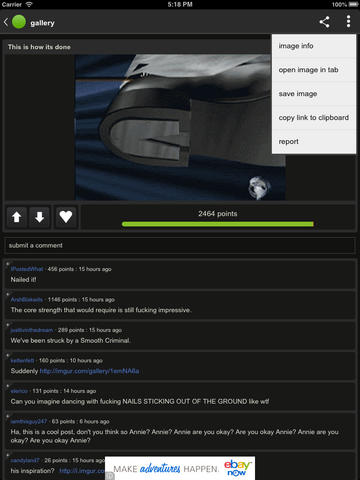 Imgur 1.0 for iOS (iPad screenshot 001)