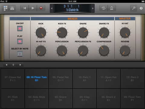 Logic Remote for iOS (iPad screenshot 002)