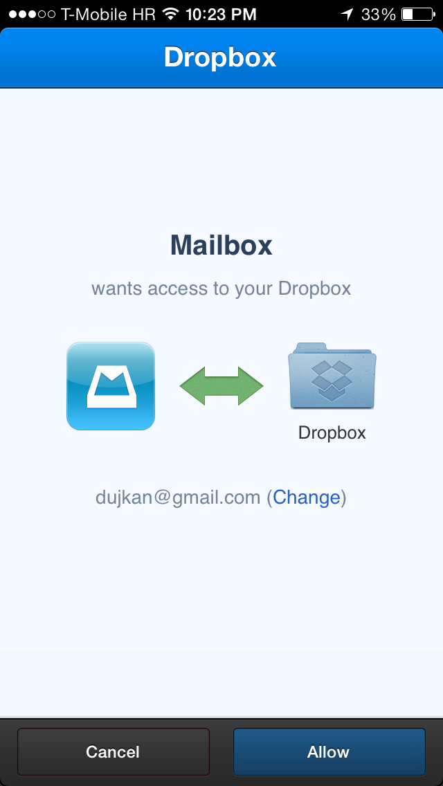 Mailbox 1.4 for iOS (iPhone screenshot 001)