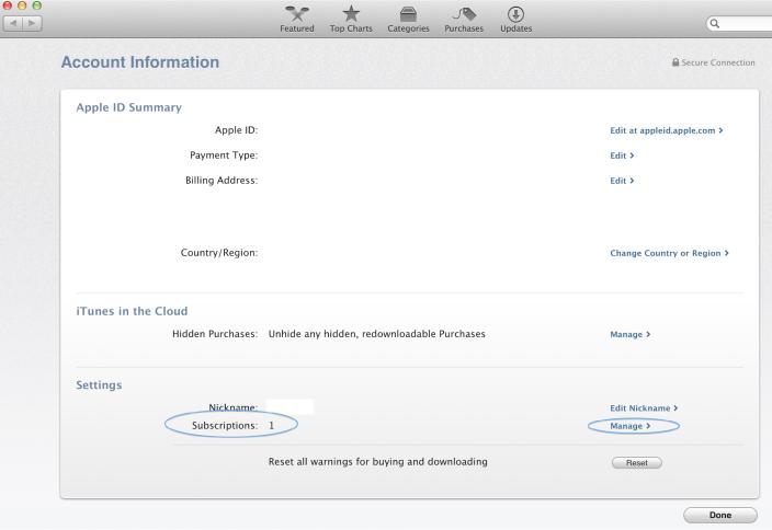 OS X Mavericks (Mac App Store, Subscriptions)