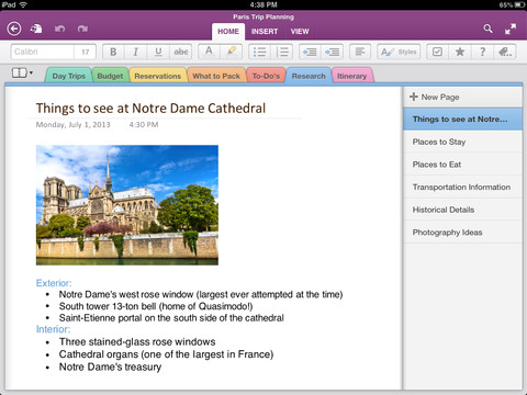 OneNote 2.0 for iOS (iPad screenshot 001)