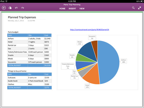 OneNote 2.0 for iOS (iPad screenshot 002)