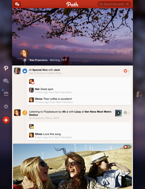 Path 3.1 for iOS (iPhone screenshot 002)
