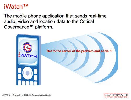 Probendi iWatch app