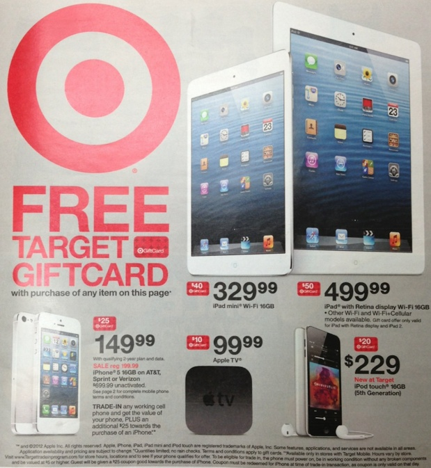 target iphone promotion target giving away gift cards on iphone ipod and 13083