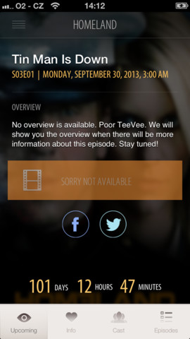 TeeVee 2.0 for iOS (iPhone screenshot 002)