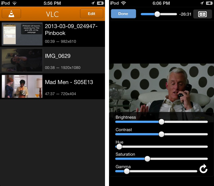 VLC for iOS (iPhone screnshot 002)