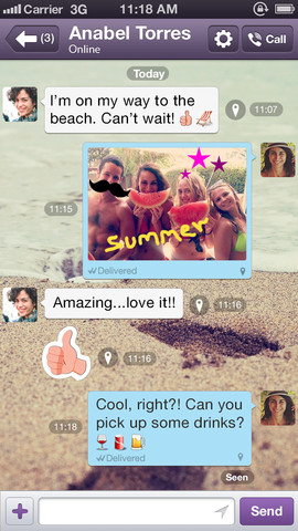 Viber 3.1 for iOS (iPhone screenshot 004)
