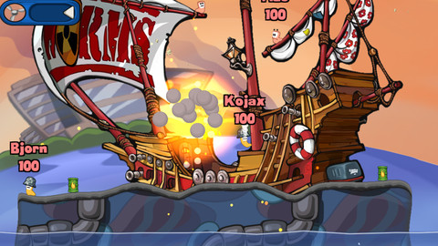 Worms 2 Armageddon for iOS (iPhone screenshot 001)