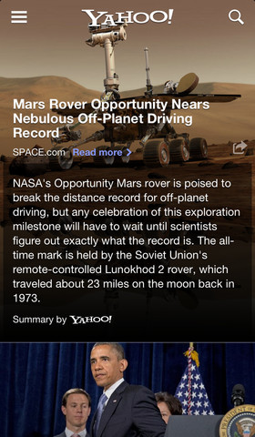 Yahoo News 3.1 for iOS (iPhone screenshot 001)