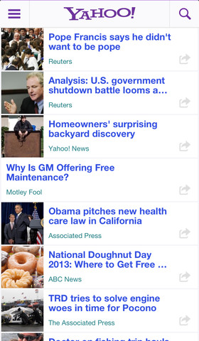 Yahoo News 3.1 for iOS (iPhone screenshot 003)