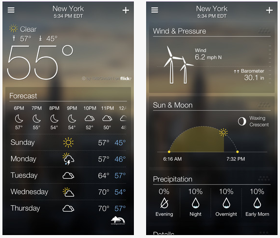 Yahoo Weather photo description