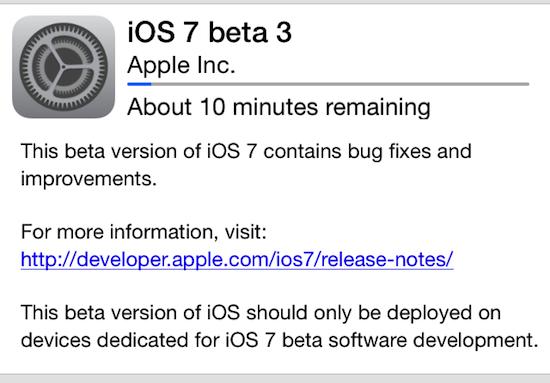beta 3 ios 7