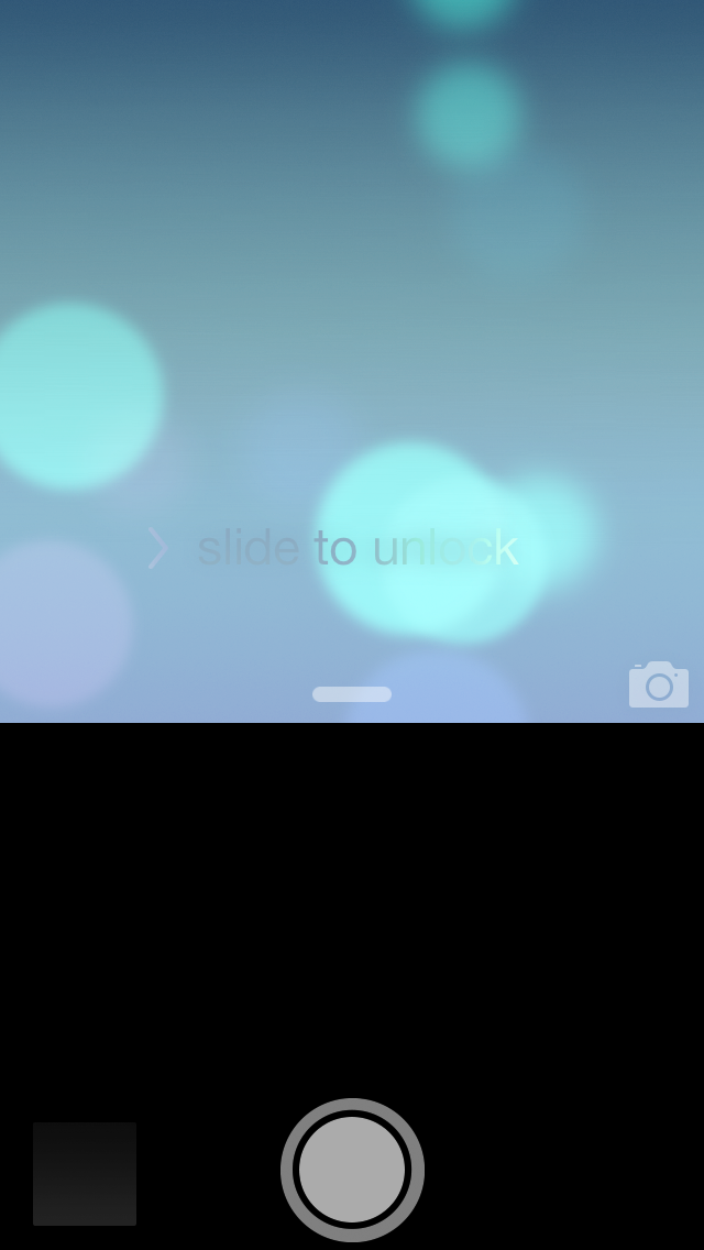 iOS 7 Beta 4 (screenshot taking, Quick camera)