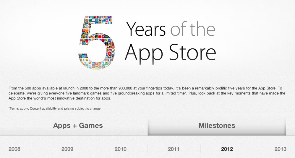 iTunes (Five Years of App Store)