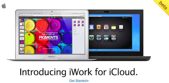 iWork iCloud beta invite