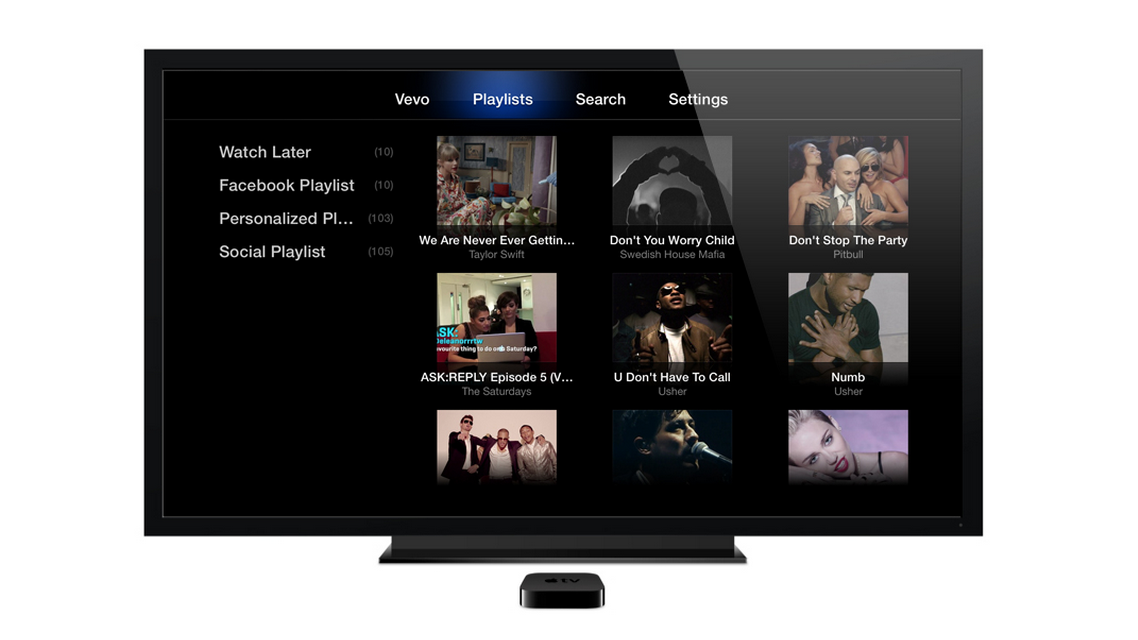 Apple TV (Vevo app)