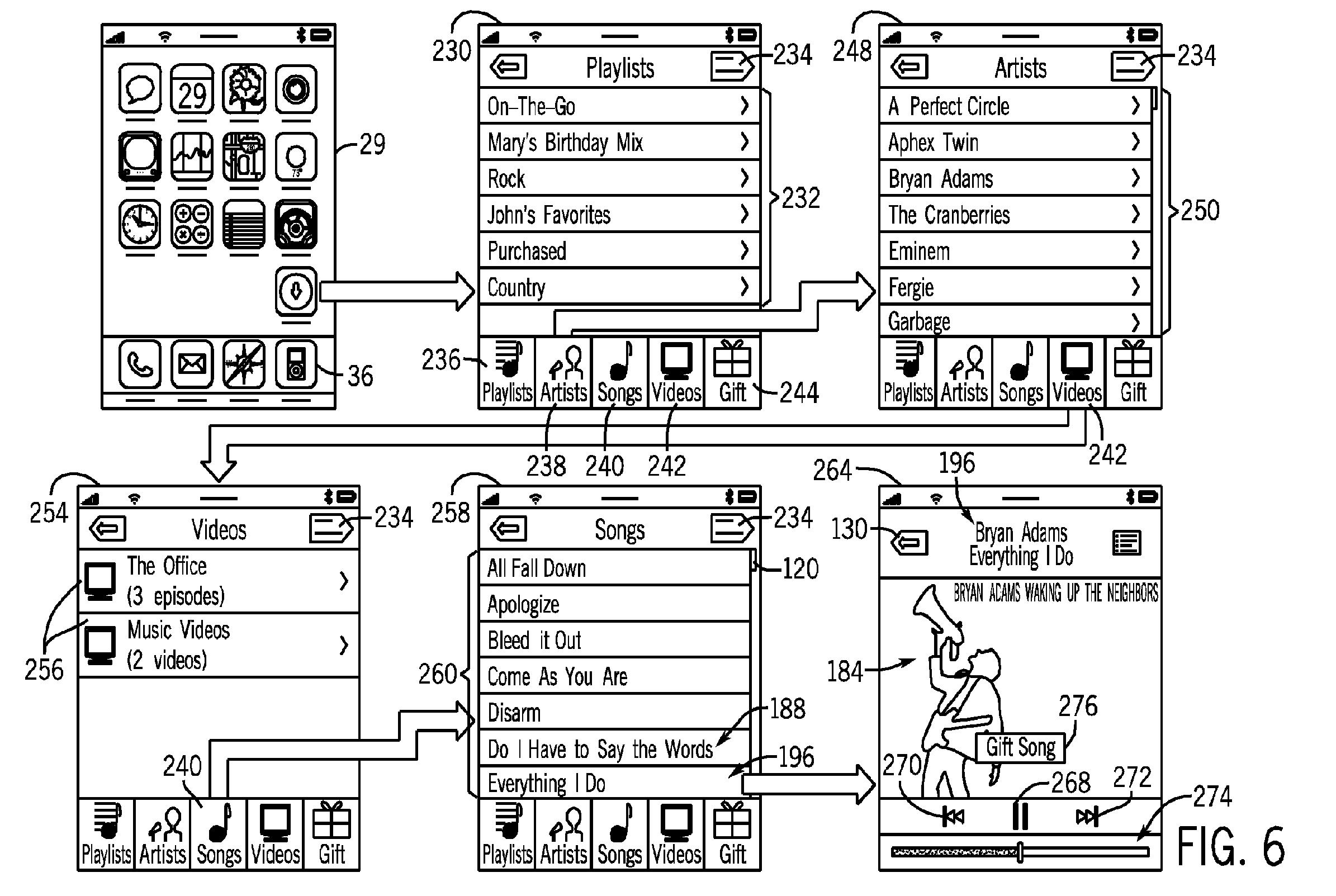 Apple patent (device-to-defice gifting, drawing 001)