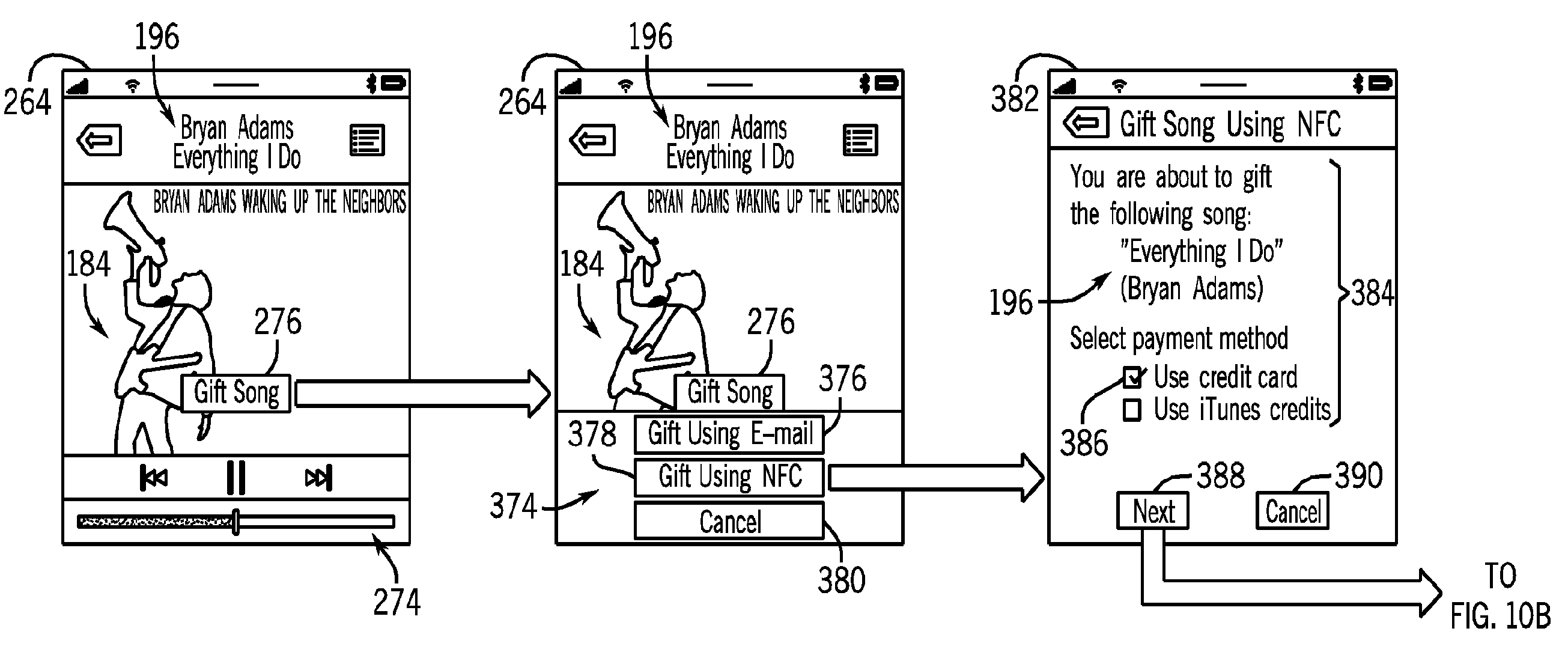 Apple patent (device-to-defice gifting, drawing 002)