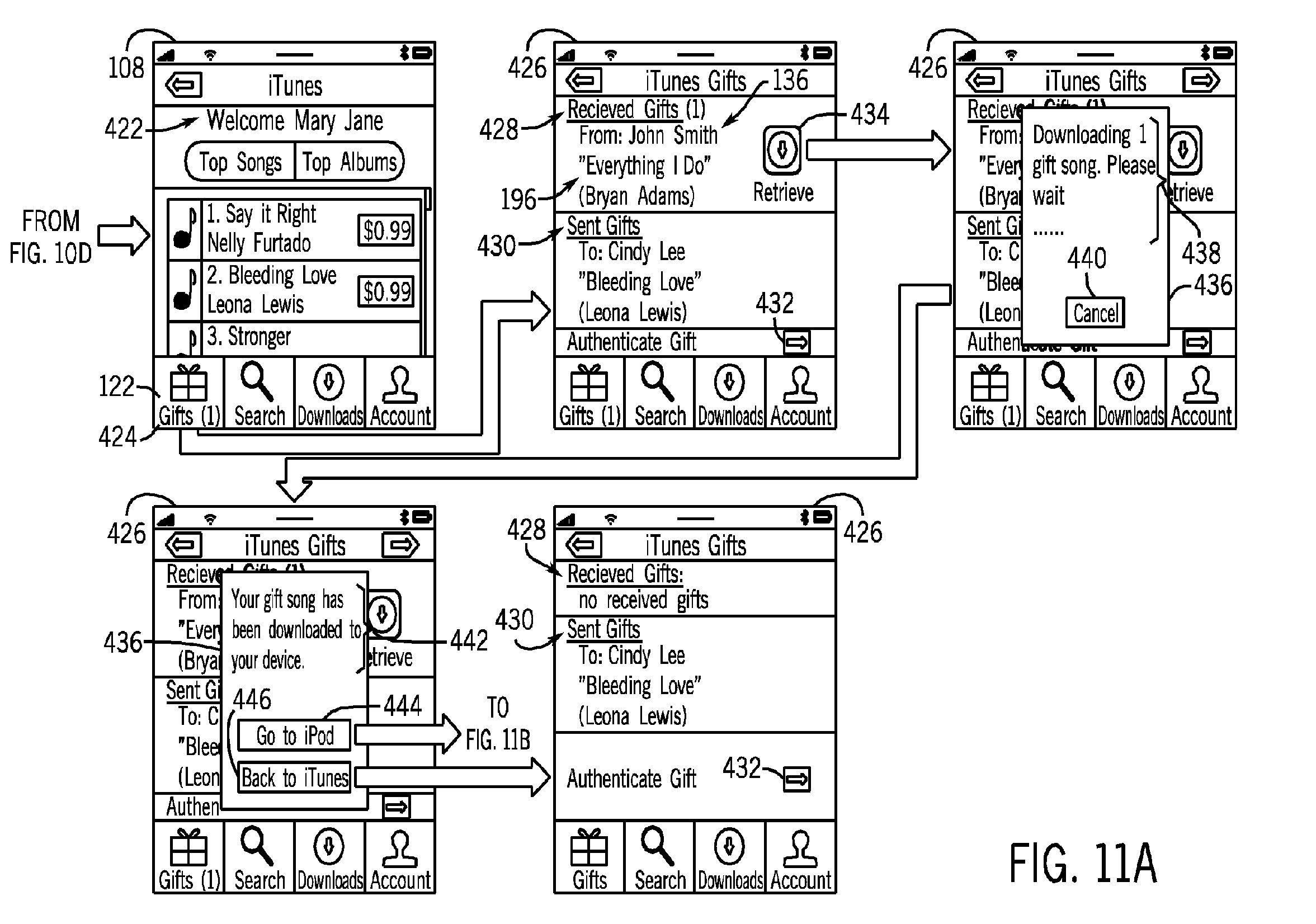 Apple patent (device-to-defice gifting, drawing 004)